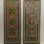19th C. Leaded Glass Etched Windows