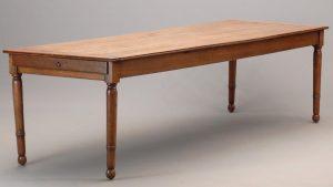 Large French walnut farm table
