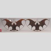 Pair Iron Bat Window Grates