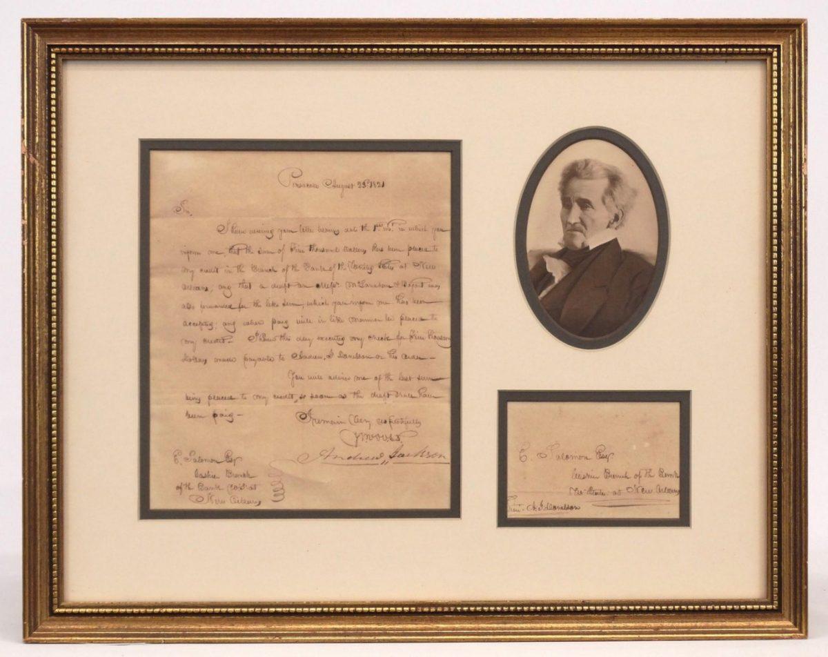 Andrew Jackson Signed Letter