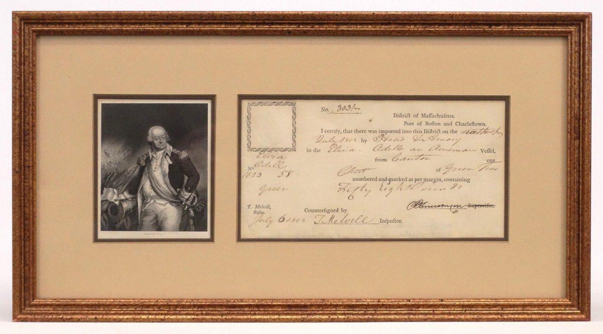 Benjamin Lincoln Signed Certificate