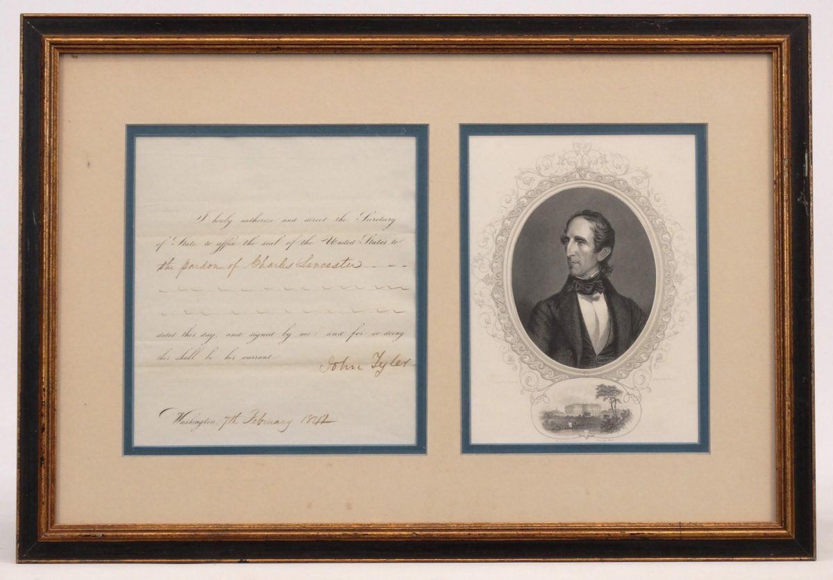 John Tyler Signed Document