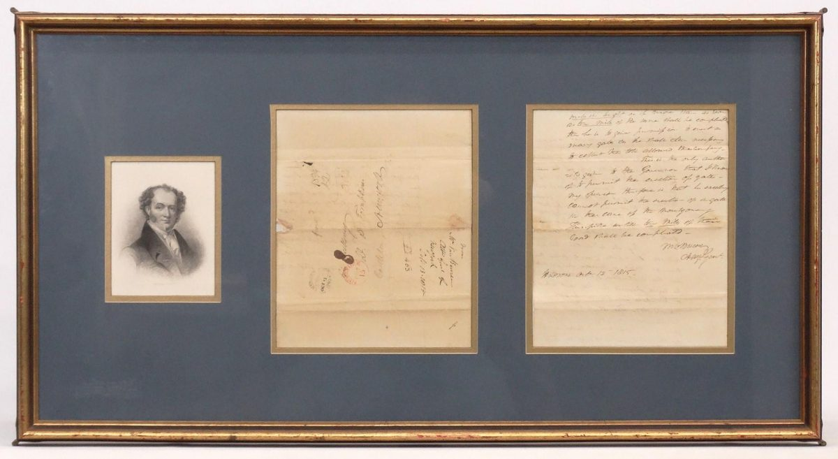 Martin Van Buren Signed Document