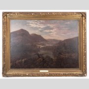 After Ralph Albert Blakelock (N.Y./Cal. 1847-1919), landscape, oil on canvas