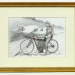 475. Original artwork depicting Tex Richardson the Indian factory team rider