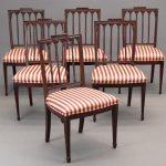 Set of (6) New York Federal mahogany chairs