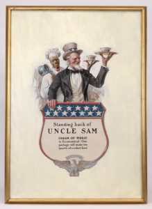 "Edward Vincent Brewer (MN./N.Y. 1883-1971), ""Standing Back Of Uncle Sam"""