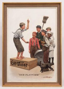 Leslie Thrasher (N.Y. 1889-1936), original Cream Of Wheat Illustration. Oil on canvas