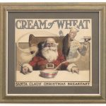 "Unkown artist, original Cream Of Wheat illustration, ""Santa Claus Christmas Breakfast"". Watercolor"
