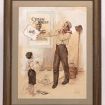 J. A. Cahill (American 20th Century), original Cream Of Wheat illustration. Watercolor and gouache