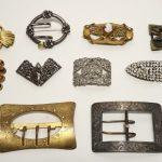 Lot of 10 Ladies' belt or sash buckles c. 1890-1940