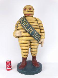 "15. Scarce early ""Bibendum"" Michelin Man Tire advertising figure, 31 ½"" Ht. Ex. DR. Miller Collection."