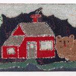 Mounted hooked rug, homestead