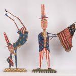 Lot (2) pieces of Jim Lambert patriotic artwork