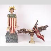 Lot (2) pieces of Jim Lambert folk art