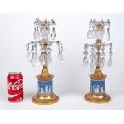 Pair of Wedgwood Jasperware candlesticks