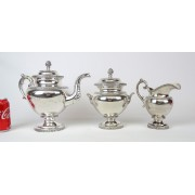 19th c. Silver Tea Set