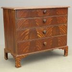 56. 18th c. Paint Decorated Chest Of Drawers
