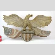 Folk Art Carved Wooden Eagle