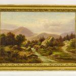 American School, 19th c. landscape. Oil on canvas.