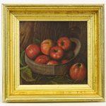 Painting, 19th c. still life. Oil on artist board