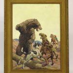 Walter Haskell Hinton (Ill. 1886-1980), western subject, oil on artist board.