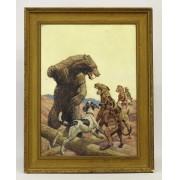 Walter Haskell Hinton (Ill. 1886-1980), western subject, oil on artist board