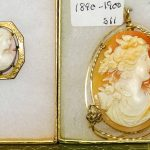 Cameo Necklace and Pin c. 1890-1900