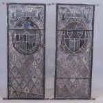 """""""CLEMENT HEATON"""" Early Stained Glass Panels"""
