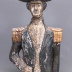 George Washington Carved Wooden Bust