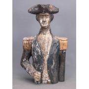 Folk Art Carved Bust Of George Washington