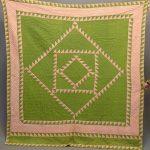 19th c. Sawtooth quilt