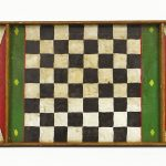 C. 1900's polychrome painted wooden checkerboard