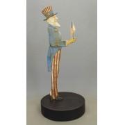 C. 1900-1910 Cast Iron Uncle Sam Mail Box Holder