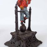 C. 1888 Boy On Trapeze cast iron mechanical bank. J. Barton Smith & Co.