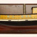 Impressive half hull tug boat model