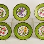 Set of (6) Limoges plates. Artist signed, hand painted