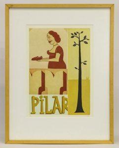 Margaret Kilgallen (New York 1967-2001), print.