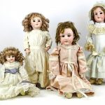 Lot (4) early porcelain dolls