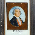 19th c. George Washington Reverse Painting