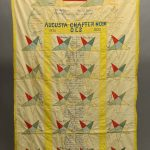 """Masonic quilt. Marked """"AUGUSTA CHAPTER / NO. 16 / O. E. S. / 1895-1930"""""""