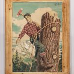 "Alfred Simkin (United States 20th Century), ""Timber"", illustration, watercolor and gouache on artist board"