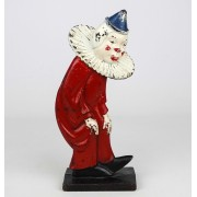 C. 1920 cast iron doorstop, Clown. Hubley Foundry
