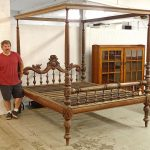 Large Mahogany Carved Bed