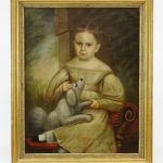 19th c. Portrait Of A Child
