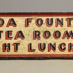 Early Double Sided Wooden Trade Sign