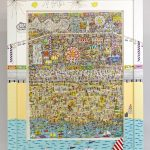 "James Rizzi (1950-2011), ""Lets Get Lost At Coney Island"", three dimensional work. #254/350"