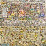 """James Rizzi """"LETS GET LOST AT CONEY ISLAND"""". 254/350, '91."""