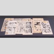 Lot of various original vintage comic art.