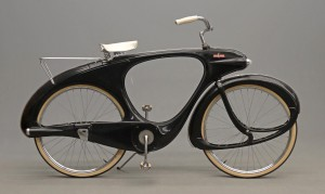 "C. 1960's Bowden ""Spacelander"" bicycle in ""charcoal"" black"